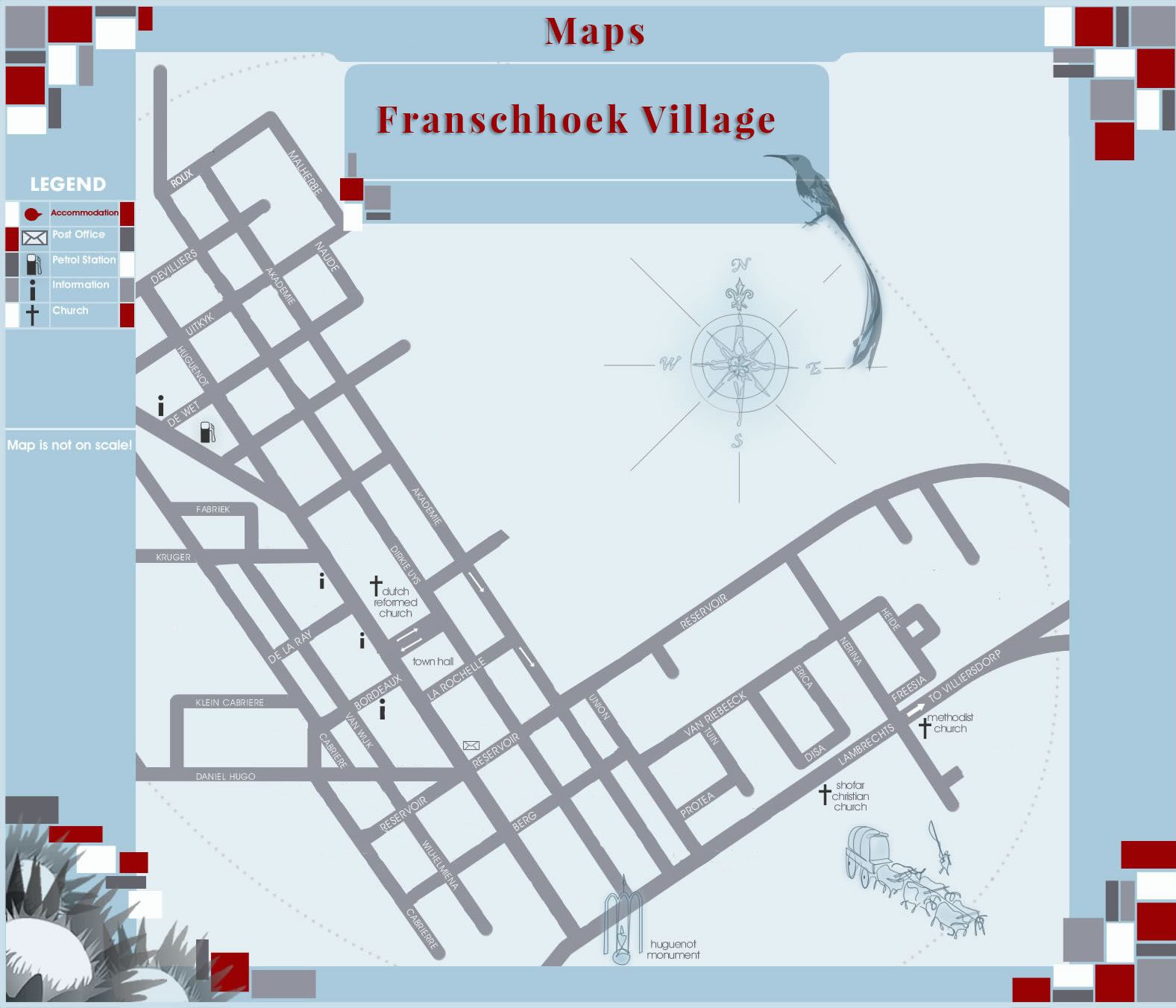 Franschhoek Village Map on